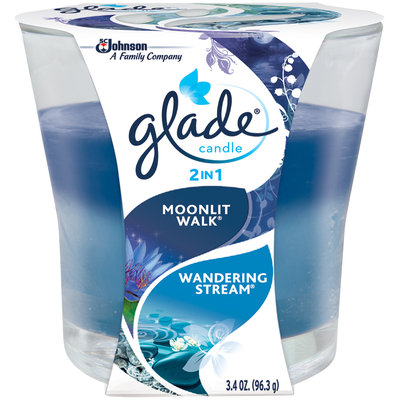 Glade® 2-in-1 Moonlit Walk and Wandering Stream Candle