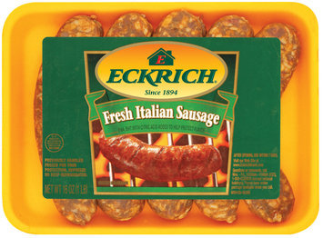 Eckrich Fresh Italian Sausage 5 Ct Italian Sausage 16 Oz Tray