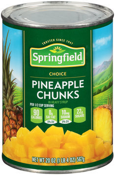 Springfield® Pineapple Chunks in Heavy Syrup 20 oz. Can