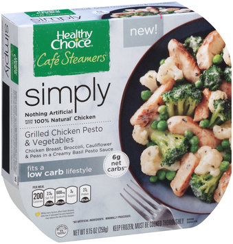 Healthy Choice® Cafe Steamers® Grilled Chicken Pesto & Vegetables 9.15 oz. Bowl