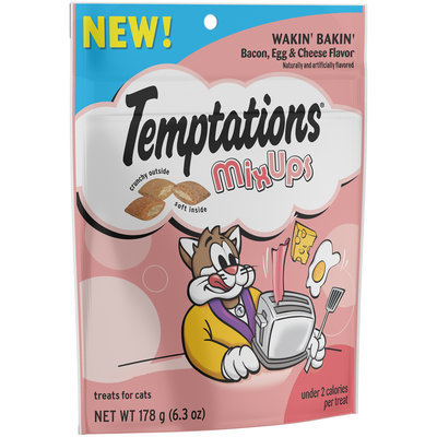 Temptations® MixUps Wakin' Bakin' Bacon, Egg & Cheese Flavors Cat Treats 6.3 oz. Pack