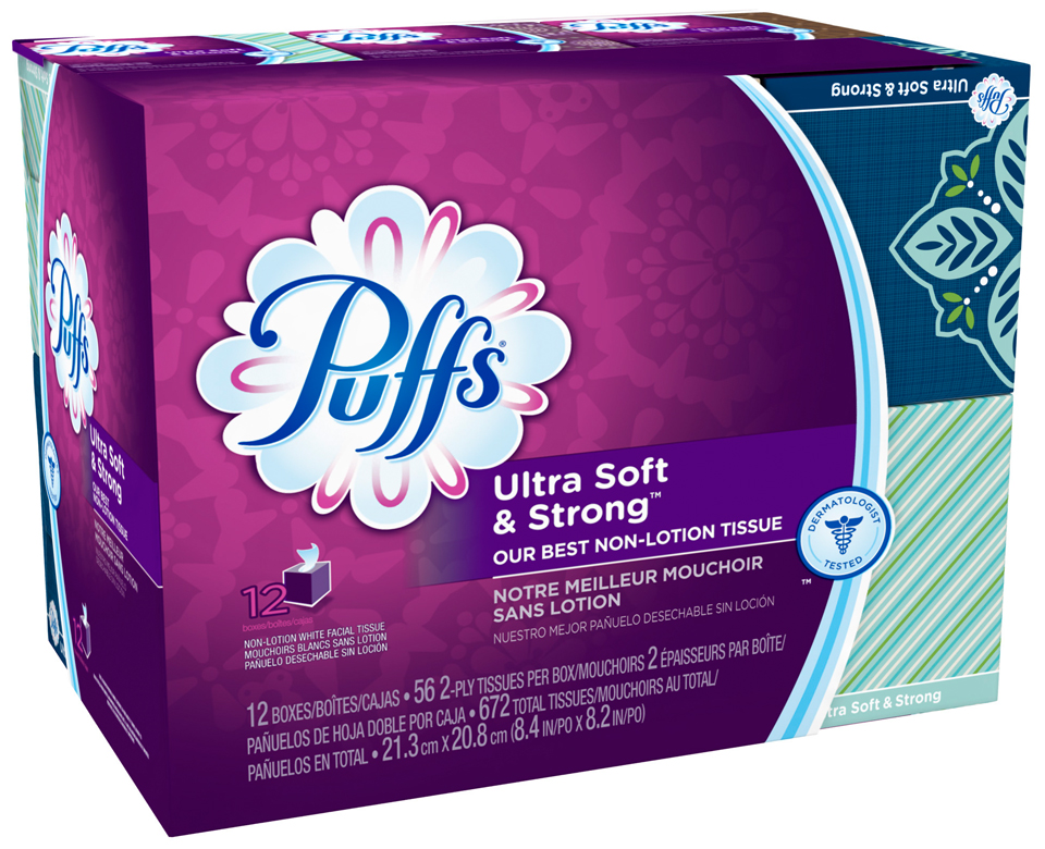 Puffs® Ultra Soft & Strong Facial Tissues