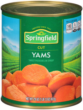 Springfield® Cut Yams 29 oz. Can
