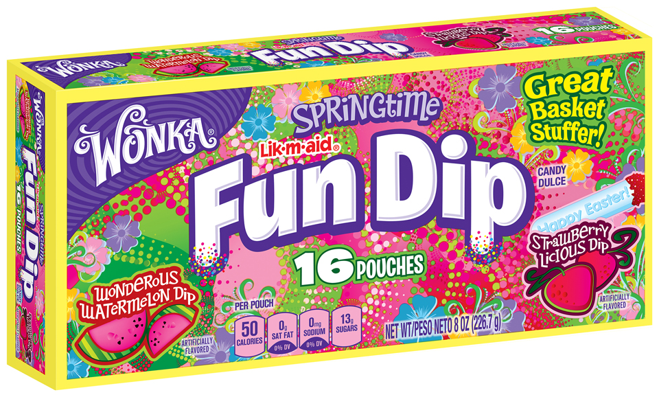 WONKA Springtime Fun Dip Candy 16 ct. Box