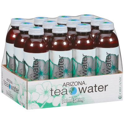 Poland Spring Organic Green Tea Arizona Tea Water 12-20 fl. oz. Plastic Bottles