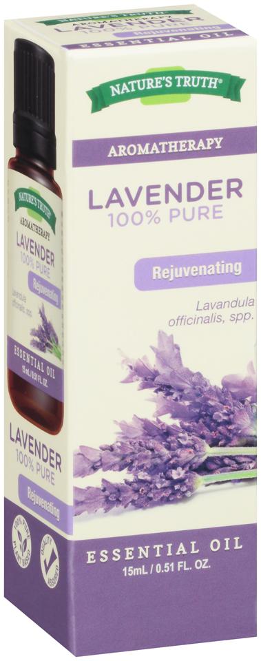 Nature's Truth® Aromatherapy Lavender 100% Pure Essential Oil 0.51 fl. oz. Box