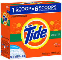 Tide Ultra Mountain Spring Scent Powder Laundry Detergent 143 oz. Box
