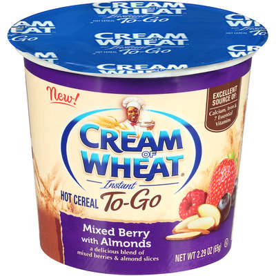 Cream of Wheat® Instant To-Go Mixed Berry with Almonds Hot Cereal 2.29 oz. Cup