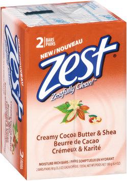 Zest® Creamy Cocoa Butter & Shea Moisture-Rich Soap 2-3.2 oz. Bars