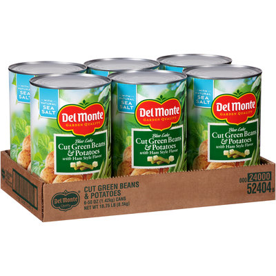 Del Monte Garden Quality™ Blue Lake Cut Green Beans & Potatoes with Ham Style Flavor