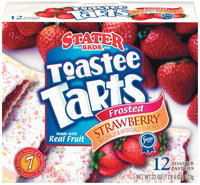 Stater Bros. Frosted Strawberry 12 Ct Toastee Tarts 22 Oz Box