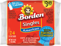 Borden® American Cheese Singles $3.49 Prepriced 24 ct Pack