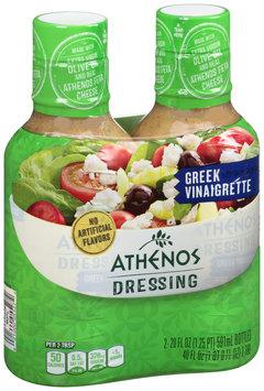 Athenos Greek Vinaigrette Dressing 2-20 fl. oz. Bottles