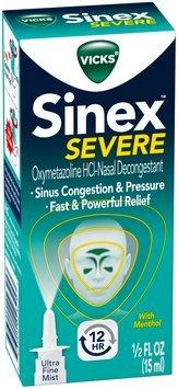 Nasal Decongestant Vicks Sinex Severe Ultra Fine Mist 0.5 fl oz