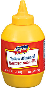 Special Value Yellow Mustard 16 Oz Plastic Bottle