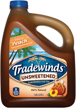 Tradewinds® A Hint of Peach Unsweetened Iced Tea 1 gal. Jug