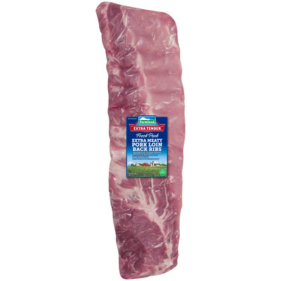 Farmland® Extra Tender® Extra Meaty Fresh Pork Loin Back Ribs Pack