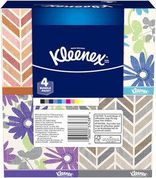 Kleenex® Medium Count Upright Everyday Tissues 4-80 ct Pack