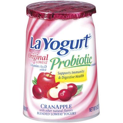 La Yogurt Probiotic Cranapple Blended Lowfat Yogurt  Original 6 Oz Cup