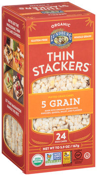 Lundberg® Organic Thin Stackers™ 5 Grain Puffed Grain Cakes 24 ct Box