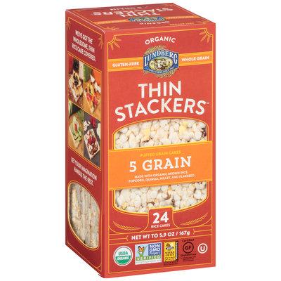 Lundberg® Organic Thin Stackers™ 5 Grain Puffed Grain Cakes 24 ct Box