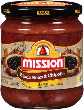 Mission® Black Bean & Chipotle Salsa 16 oz. Jar