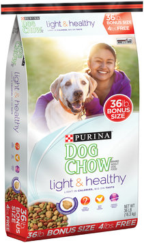 Purina Dog Chow Light & Healthy Dog Food Bonus Size 36 lb. Bag