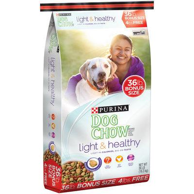 Purina Dog Chow Light & Healthy Dog Food Bonus Size 36 lb. Bag