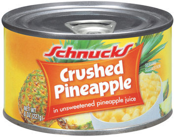 Schnucks In Unsweetened Pineapple Juice Crushed Pineapple