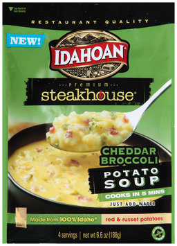 Idahoan® Premium Steakhouse® Cheddar Broccoli Potato Soup 6.6 oz. Pouch