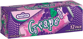 Springfield Grape 12 Oz. Cans  Flavored Soda 12 Pk Carton