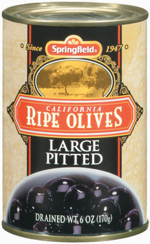 Springfield Ripe California Large Pitted Olives