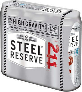 Steel Reserve® High Gravity Lager 3-24 fl. oz. Cans