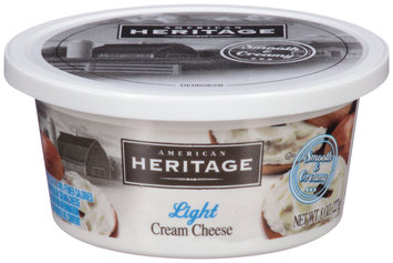 American Heritage® Light Cream Cheese 8 oz. Tub