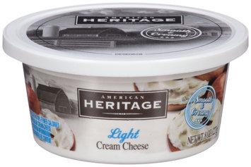 American Heritage® Light Cream Cheese 8 oz. Tub