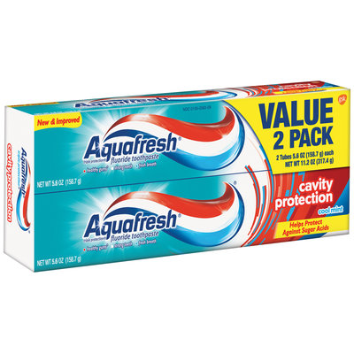 Aquafresh® Triple Protection® Cavity Protection Cool Mint Toothpaste 5.6 oz. 2 count Box