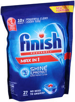 Finish® Powerball® Max In 1® Tablets Automatic Dishwasher Detergent 19.2 oz. Box