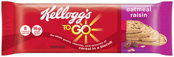 Kellogg's® To Go™ Oatmeal Raisin Morning Biscuit 1.55 oz. Pack