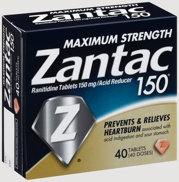 Zantac 150® Maximum Strength 150mg Acid Reducer Tablets 40 ct Box
