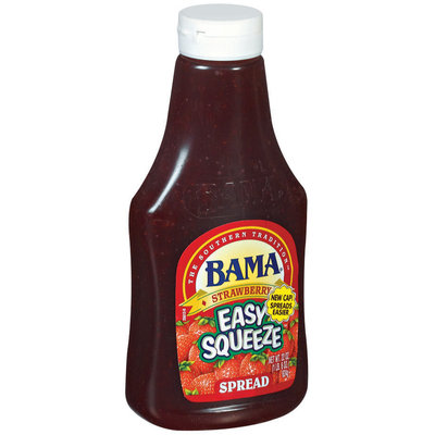 Bama Spreads Strawberry Easy Squeeze, Modified 6/30/07 Spread 22 Oz Squeeze Bottle