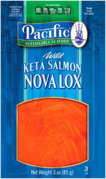Pacific Sustainable Seafood™ Wild Keta Salmon Nova Lox 3 oz. Pouch