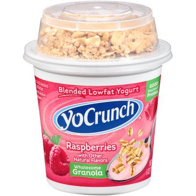 YoCrunch® Raspberries Lowfat Yogurt with Granola 6 oz. Cup