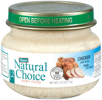 Mom's Natural Choice Baby Food Chicken with Gravy 2.5 oz Jar
