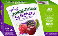 Juicy Juice® Splashers™ Fruit Punch Flavored Juice Beverage 10-6 fl. oz. Pouches