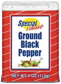 Special Value  Ground Black Pepper 4 Oz Shaker