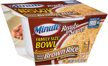 Minute® Ready to Serve Family Size Bowl Whole Grain Brown Rice 16 oz. Bowl