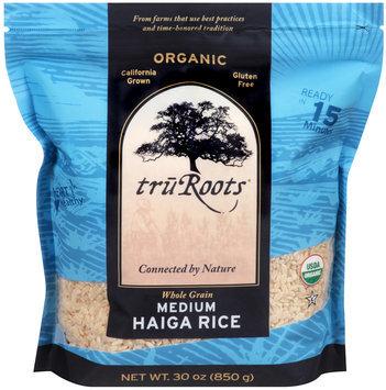 TruRoots® Organic Medium Haiga Rice 30 oz. Stand-Up Bag