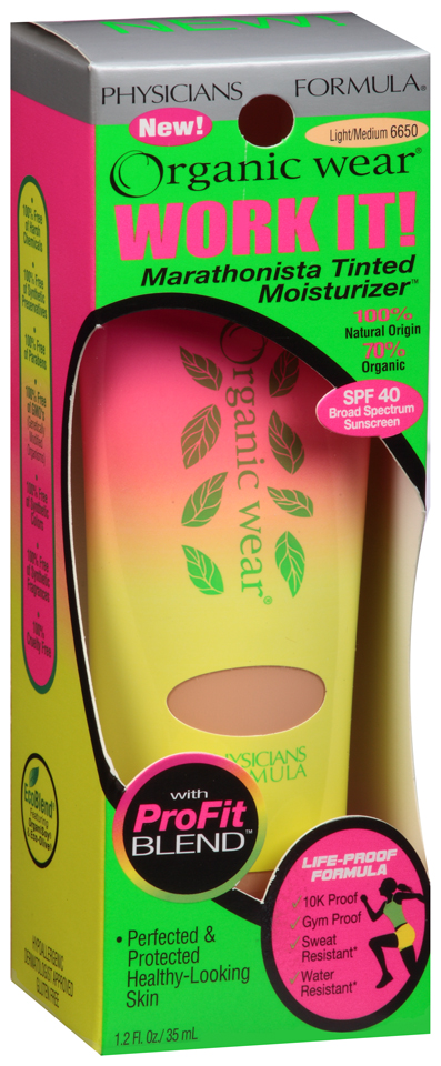 Physicians Formula® Organic Wear® Work It! Light/Medium Marathonista Tinted Moisturizer™ 1.2 fl. oz. Box