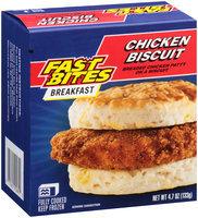 Fast Bites Breakfast Chicken Biscuit 4.7 oz. Box