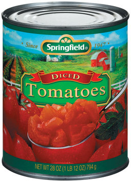 Springfield Diced Tomatoes 28 Oz Can